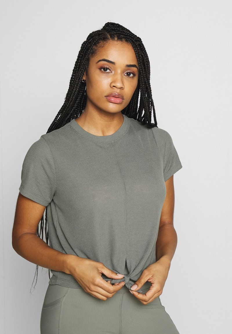 Cotton On Body - TIE UP  - T-shirts - washed aloe