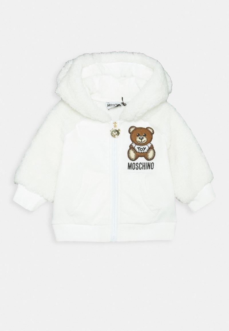MOSCHINO - HOODED - Zip-up hoodie - cloud