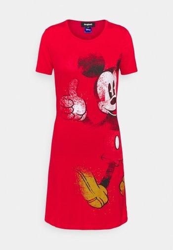 MICKEY - Vestito di maglina - red