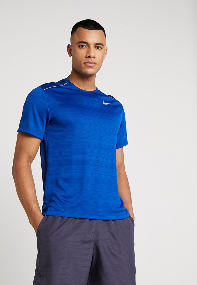 Nike Performance - DRY MILER - T-shirt print - indigo force/blue void/reflective silver