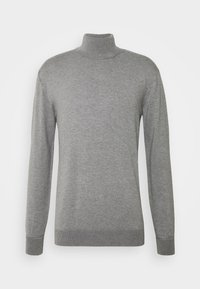 Scotch & Soda - CLASSIC TURTLENECK - Jumper - grey melange - 0