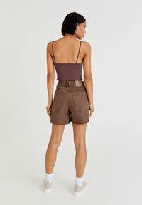 PULL&BEAR - Top - mottled dark brown - 2