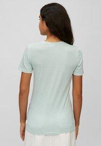 Marc O'Polo DENIM - Print T-shirt - multi/milky mint - 2