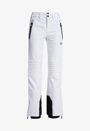 SKI CARVE PANT - Spodnie narciarskie - arctic white