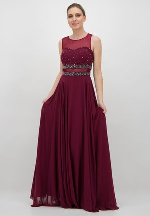 Cut-Outs mit Perlenverzierungen - Occasion wear - purpur