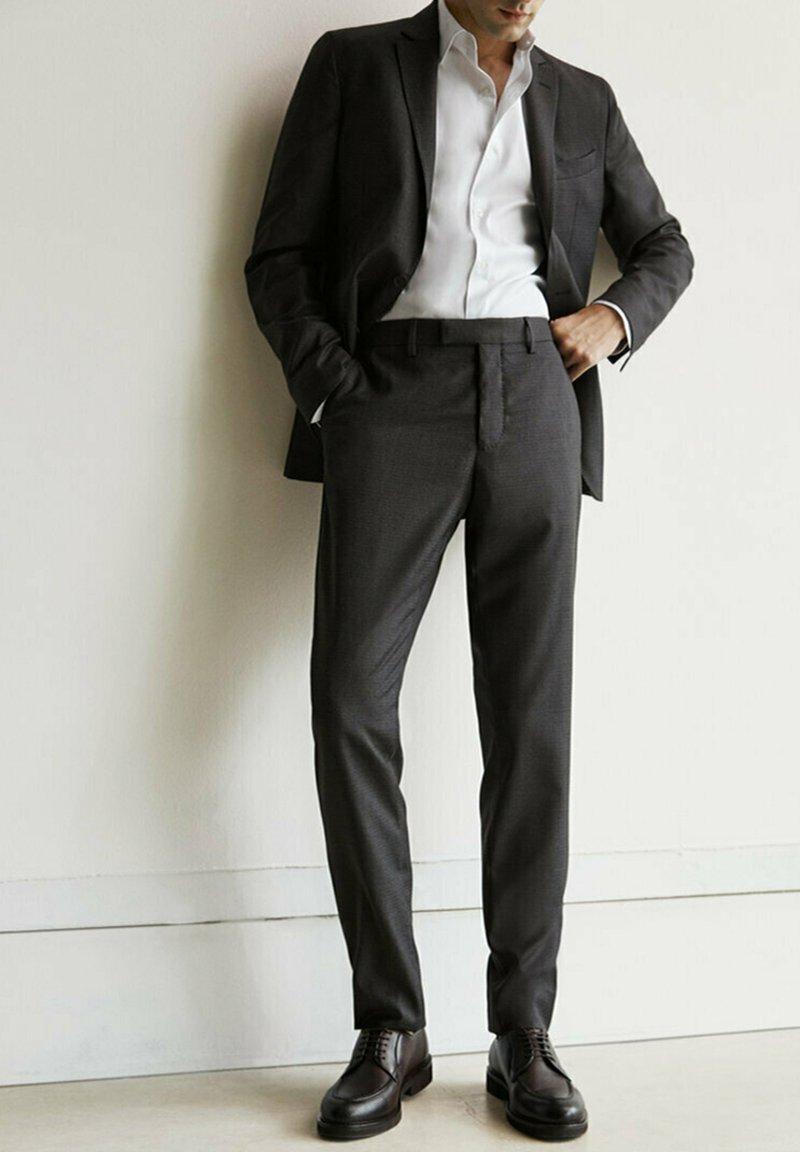 Massimo Dutti - Suit trousers - dark grey