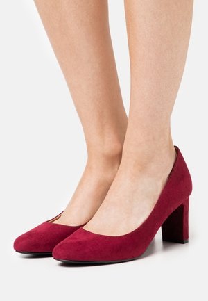 DENVER ALMOND TOE COURT - Escarpins - oxblood
