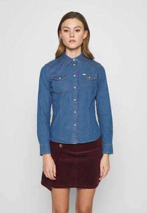 SLIM WESTERN - Button-down blouse - blueprint