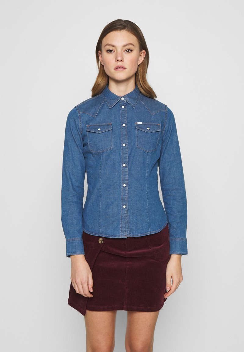 Lee - SLIM WESTERN - Button-down blouse - blueprint