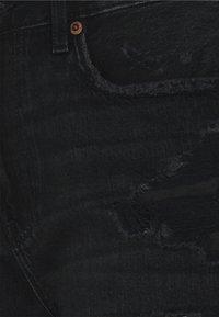 American Eagle - BERMUDA - Shorts di jeans - destroyed black - 2