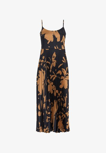 KLEID PLISSEEKLEID MIT MAXI-BLUMENPRINT - Maxi dress - schwarz