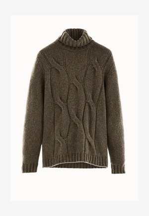 MIT ZOPFMUSTER LIMITED EDITION  - Sweter - brown