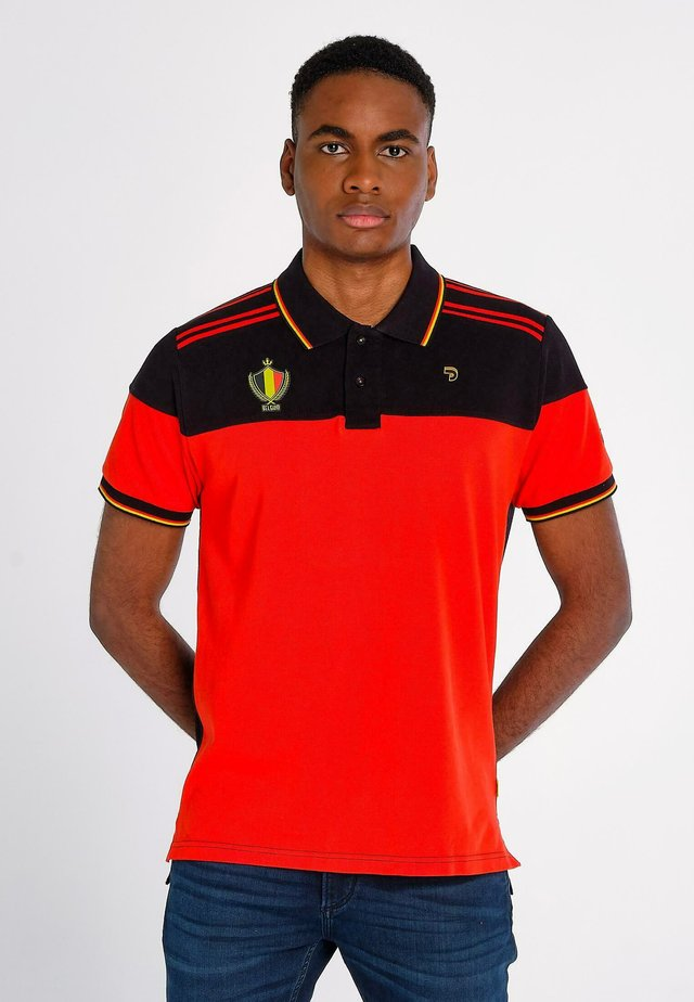 Polo - red, black