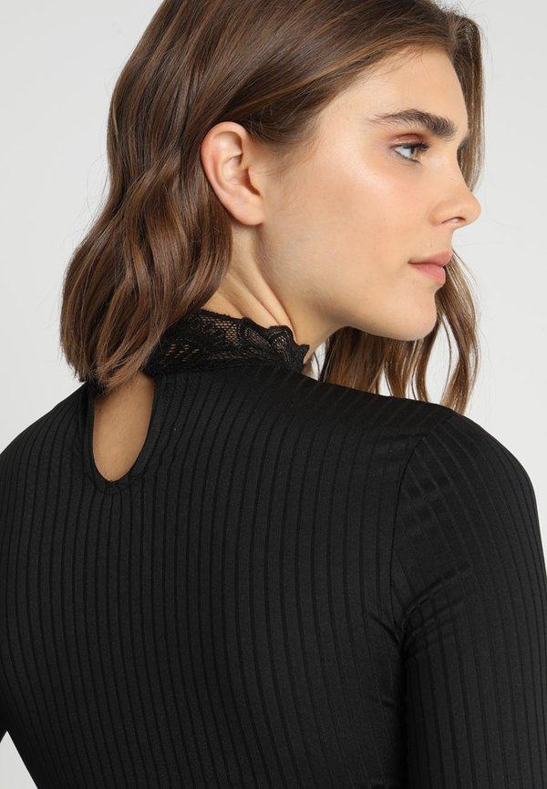 JDY Bluzka z długim rękawem - black Kolor jednolity Odzież Damska KIGQ BA 7