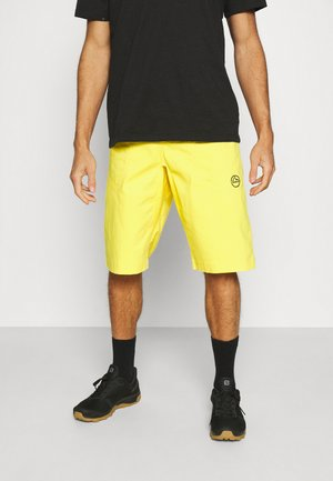 FLATANGER SHORT - Träningsshorts - yellow/black