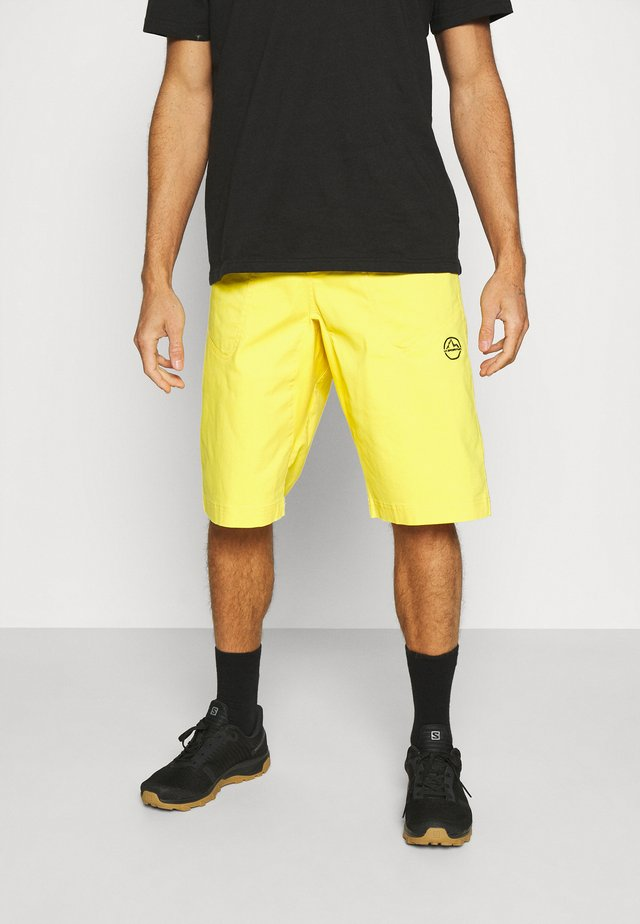 FLATANGER SHORT - Korte broeken - yellow/black