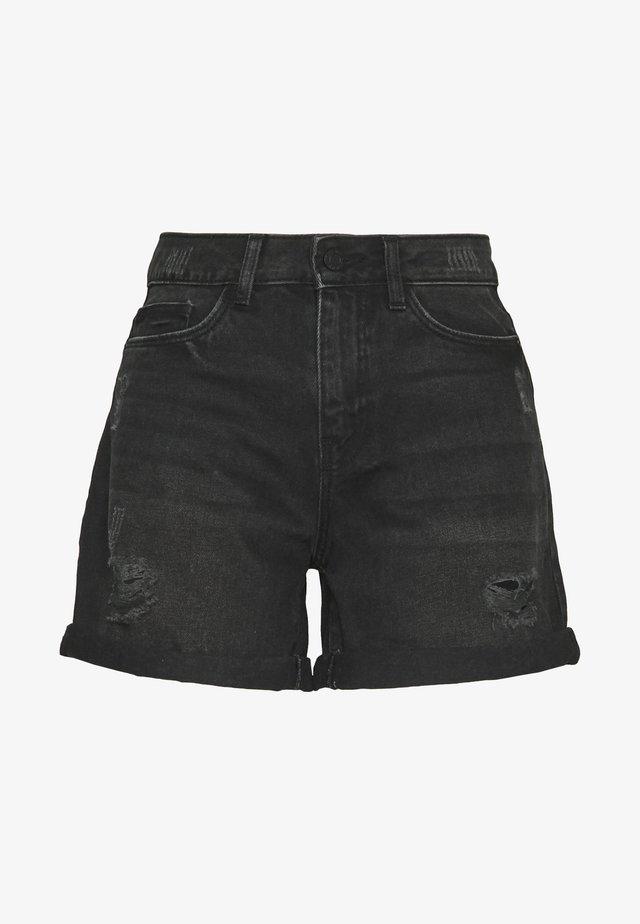DESTROY SHORTS - Shorts di jeans - black