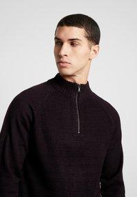 Burton Menswear London - HALF ZIP  - Sweter - burgundy - 5