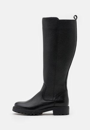 LEATHER - Stivali alti - black
