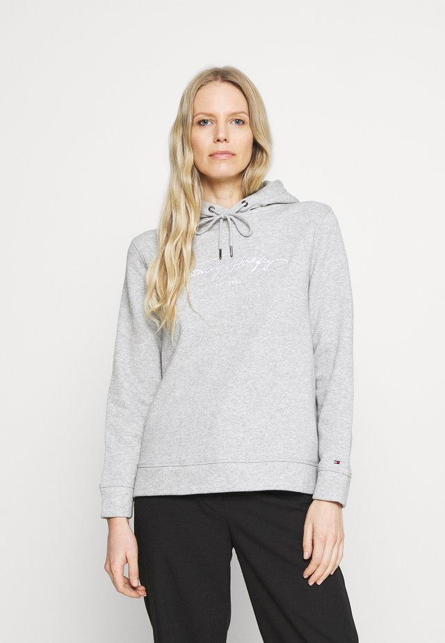 SCRIPT HOODIE - Bluza z kapturem - light grey heather