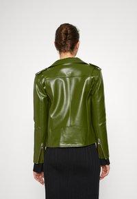 Deadwood - RIVER VEGAN CACTUS LEATHER JACKET - Faux leather jacket - green - 2