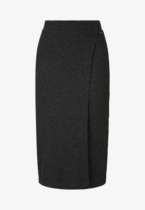 Wrap skirt - mottled grey