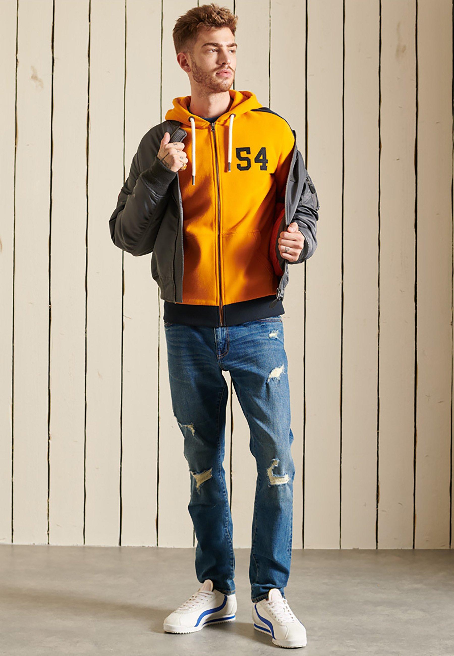 Men VINTAGE LOGO COLOUR BLOCK - Zip-up sweatshirt