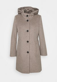 Esprit Collection - HOODED COAT - Classic coat - light taupe - 0