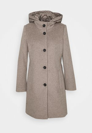 HOODED COAT - Klassischer Mantel - light taupe