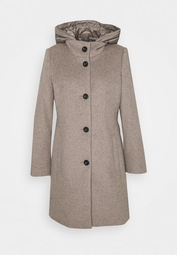HOODED COAT - Classic coat - light taupe