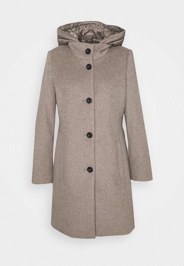 HOODED COAT - Manteau classique - light taupe