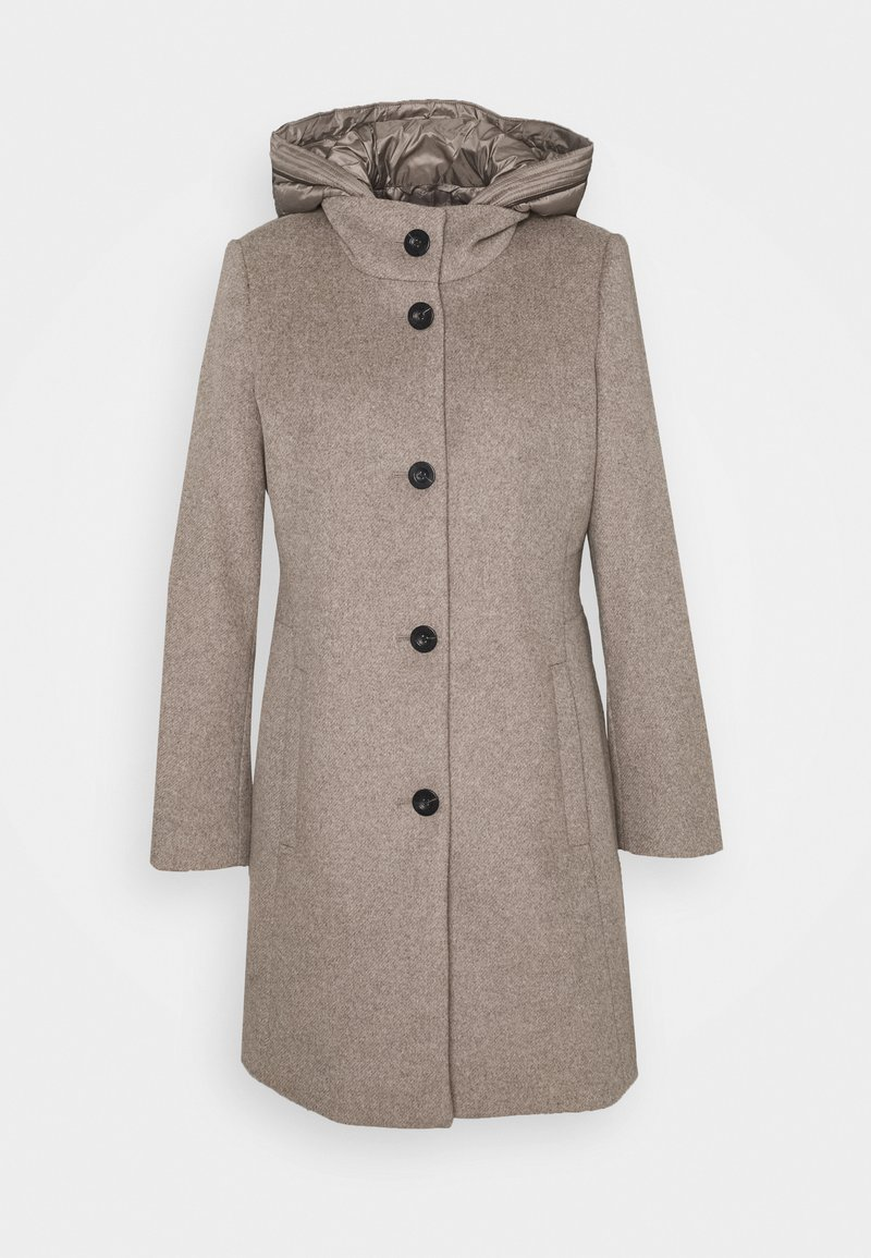 Esprit Collection - HOODED COAT - Classic coat - light taupe