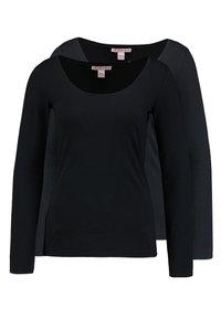2 PACK - Long sleeved top - black/black