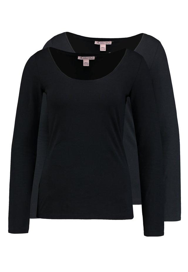 2 PACK - Camiseta de manga larga - black/black