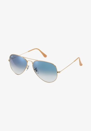 AVIATOR - Occhiali da sole - gold crystal gradient light blue