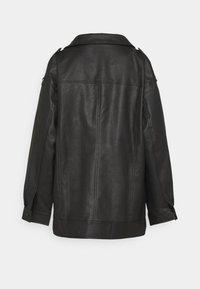 Missguided Tall - LONGLINE VINTAGE BIKER - Imitatieleren jas - black - 1