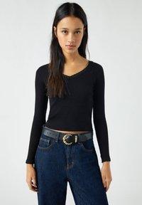 PULL&BEAR - Long sleeved top - black - 0