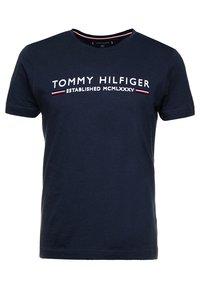 Tommy Hilfiger - ESSENTIAL TEE - Print T-shirt - blue - 0