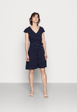 WOVEN VOLANT DRESS - Day dress - blue