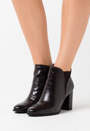 Ankle boots - dark mocca