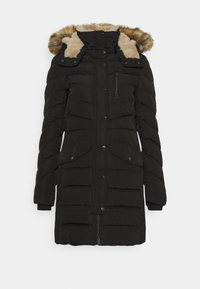 TOM TAILOR - SIGNATURE PUFFER COAT - Winter coat - deep black - 0
