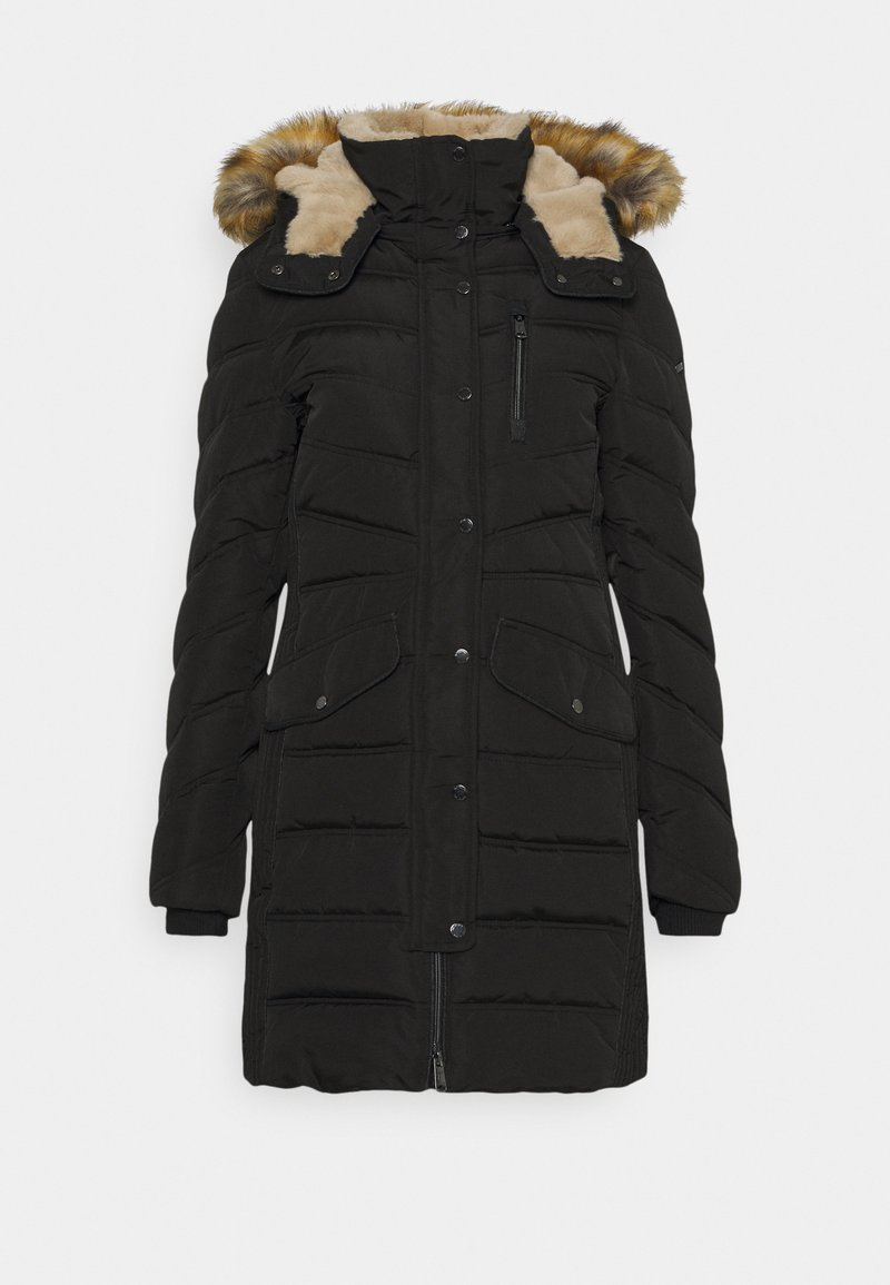TOM TAILOR - SIGNATURE PUFFER COAT - Winter coat - deep black