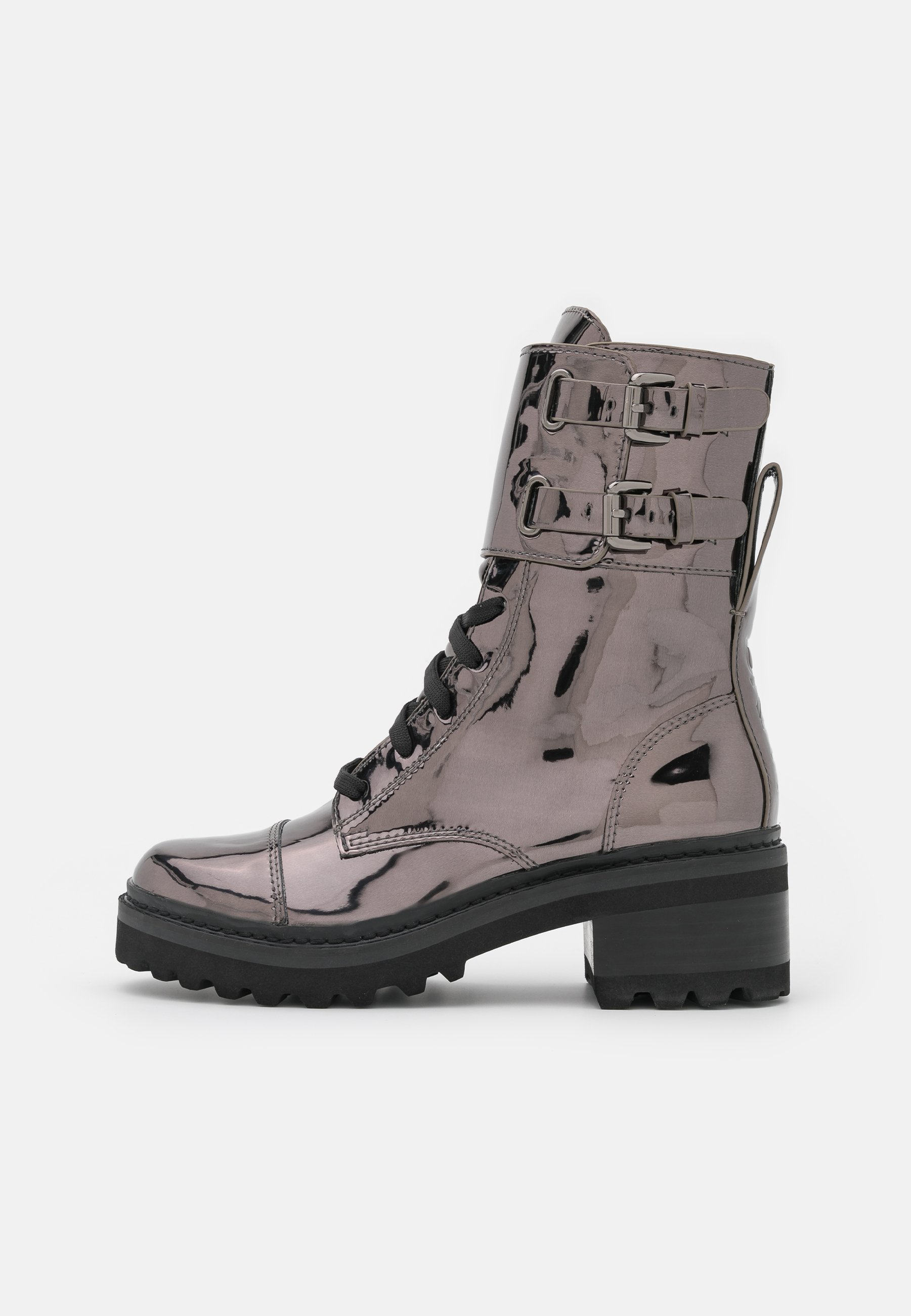 Women BART COMBAT BOOT BUCKLE - Lace-up ankle boots