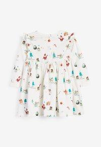 Next - CHRISTMAS PRINT  - Jersey dress - off-white - 1