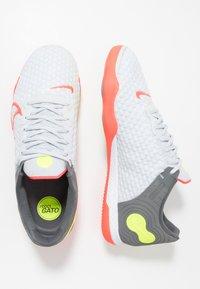 Nike Performance - REACTGATO  - Indoor football boots - white/bright crimson/cool grey - 1
