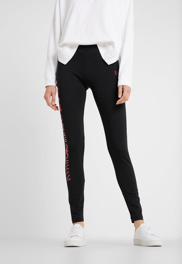 Leggings - Trousers - black/pink