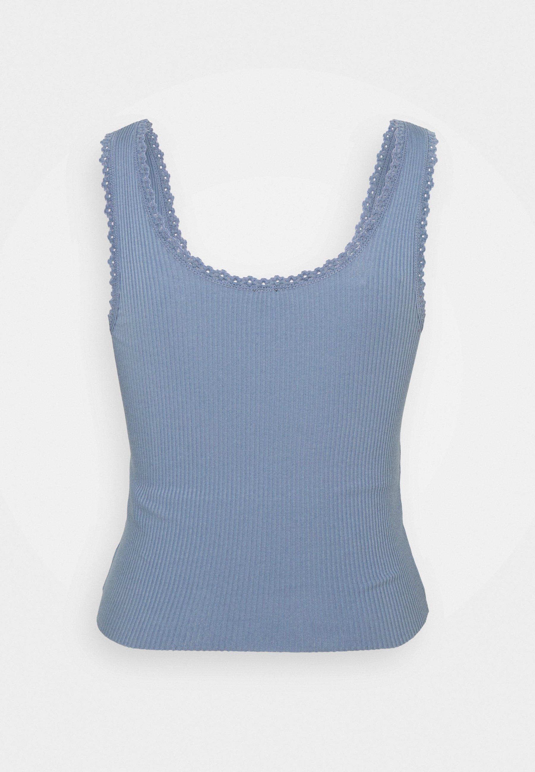 Bdg Urban Outfitters Picot Trim Vest - Topper Blue/blå