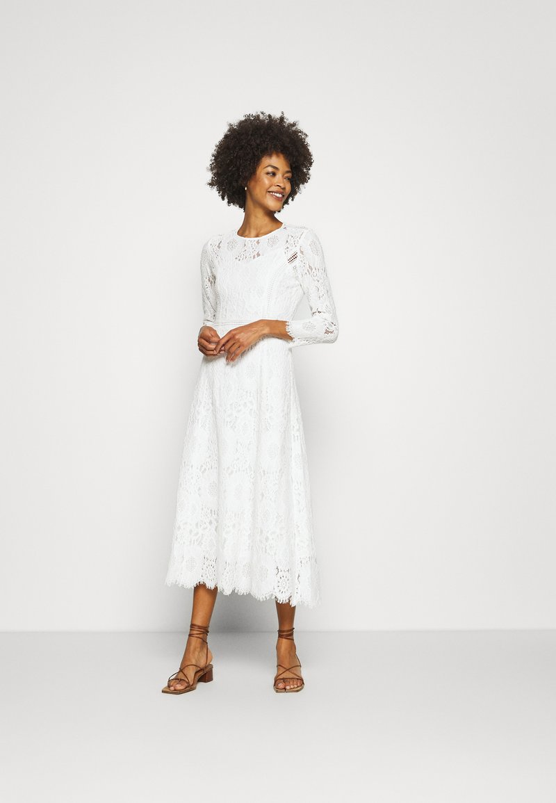 IVY & OAK BRIDAL - VINTAGE DRESS MIDI - Vestido de fiesta - snow white