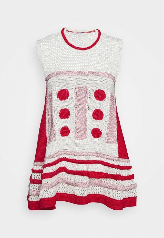 Topper - fantasia bianco/rosa/rosso