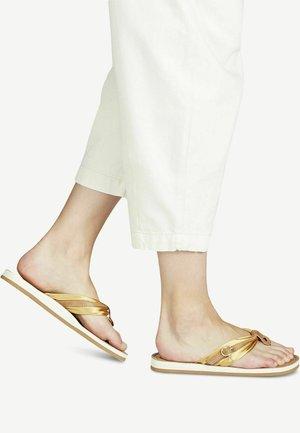 T-bar sandals - saffron satin